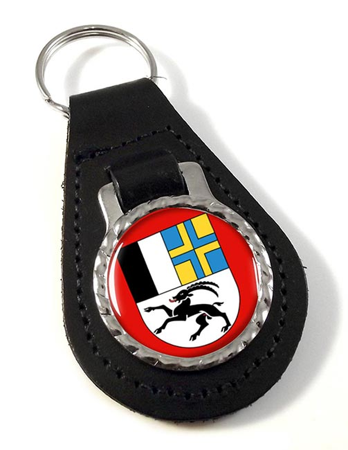 Graubunden (Switzerland) Leather Key Fob