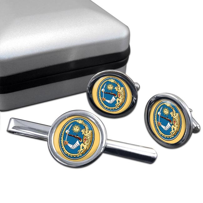 Hajdu Round Cufflink and Tie Clip Set