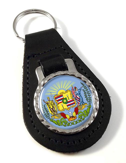 Hawaii  Leather Key Fob