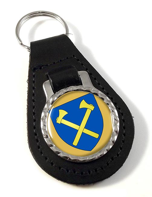 St. Helier (Jersey) Leather Key Fob