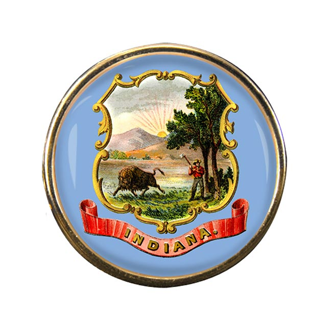 Indiana Round Pin Badge