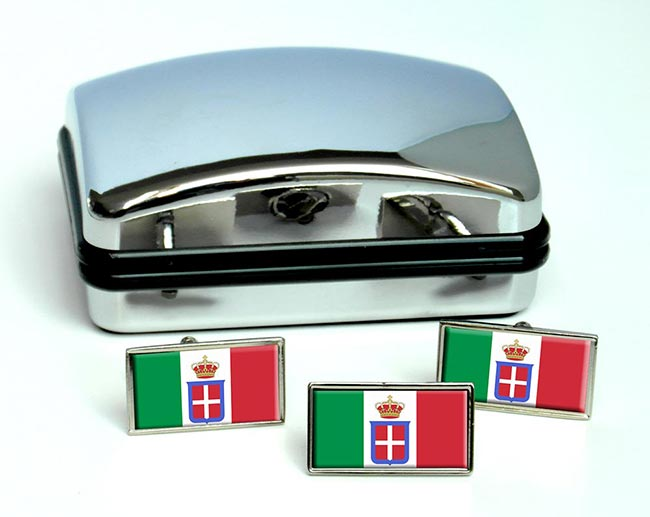 Regno d'Italia (Italy) Flag Cufflink and Tie Pin Set