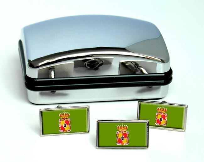 Jaen (Spain) Flag Cufflink and Tie Pin Set