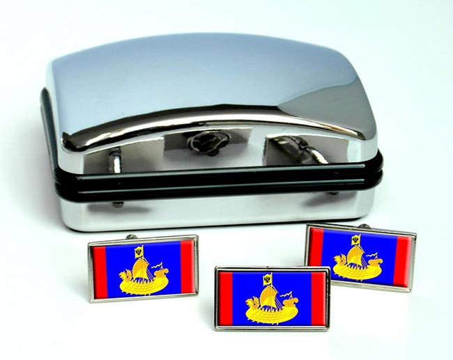 Kostroma Oblast Flag Cufflink and Tie Pin Set