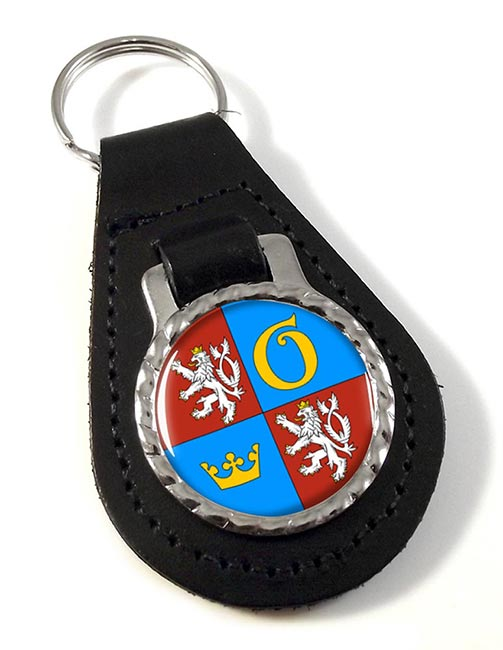 Kralovehradecky Kraj Leather Key Fob