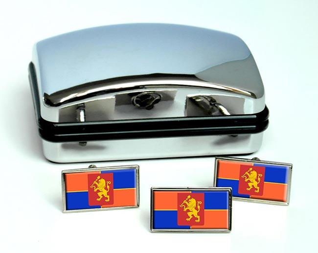 Krasnoyarsk Flag Cufflink and Tie Pin Set
