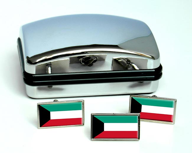 Kuwait Flag Cufflink and Tie Pin Set