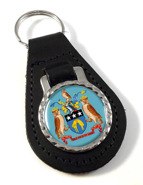 Leeds (England) Leather Key Fob