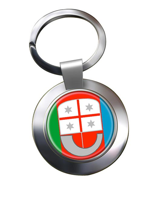 Liguria (Italy) Metal Key Ring