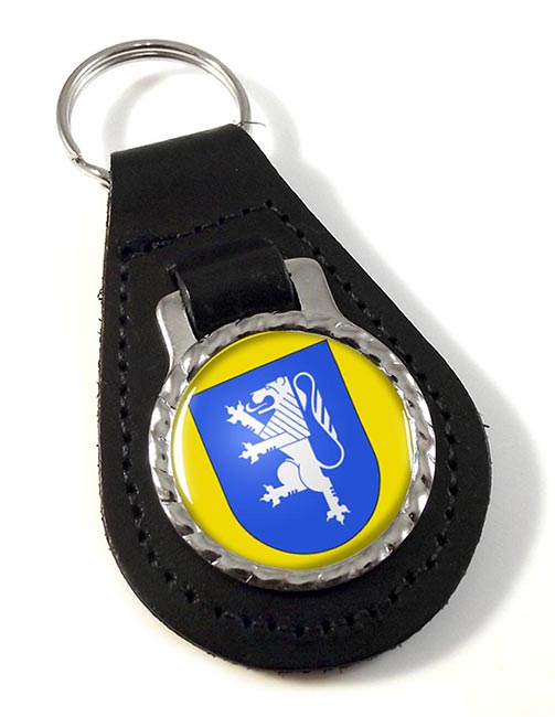 Locarno (Switzerland) Leather Key Fob