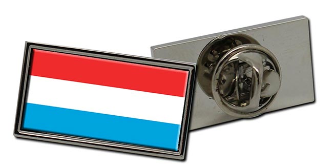 Grand-Duche de Luxembourg Flag Pin Badge