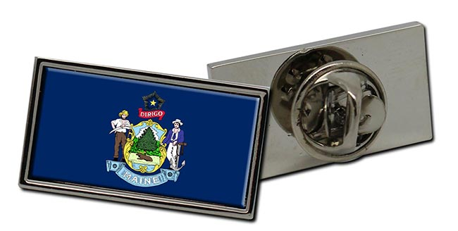 Maine  Flag Pin Badge