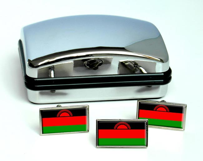 Malawi Flag Cufflink and Tie Pin Set