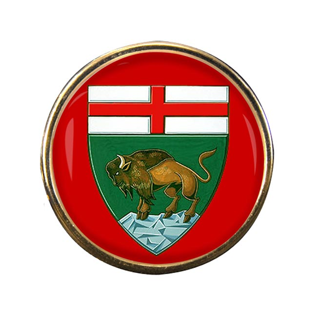 Manitoba (Canada) Round Pin Badge