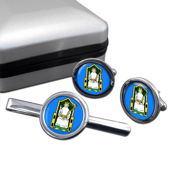 Kingdom of Meath (Mide) (Ireland) Round Cufflink and Tie Clip Set