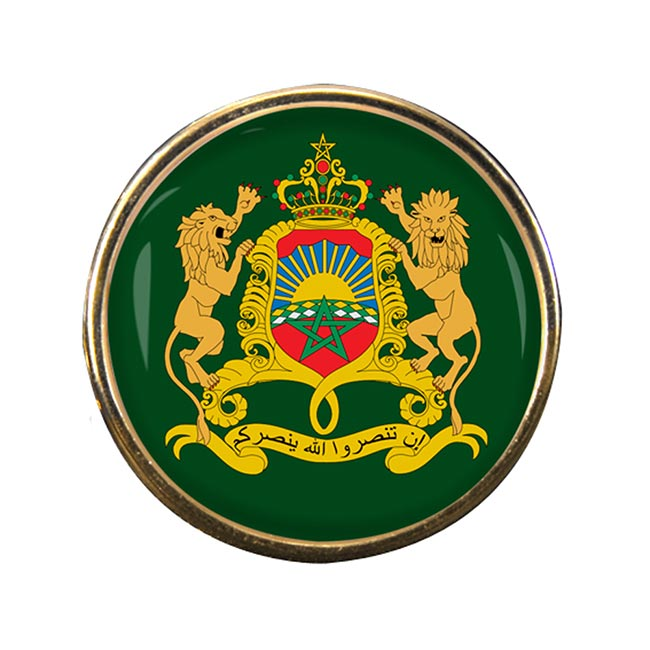 Morocco Round Pin Badge