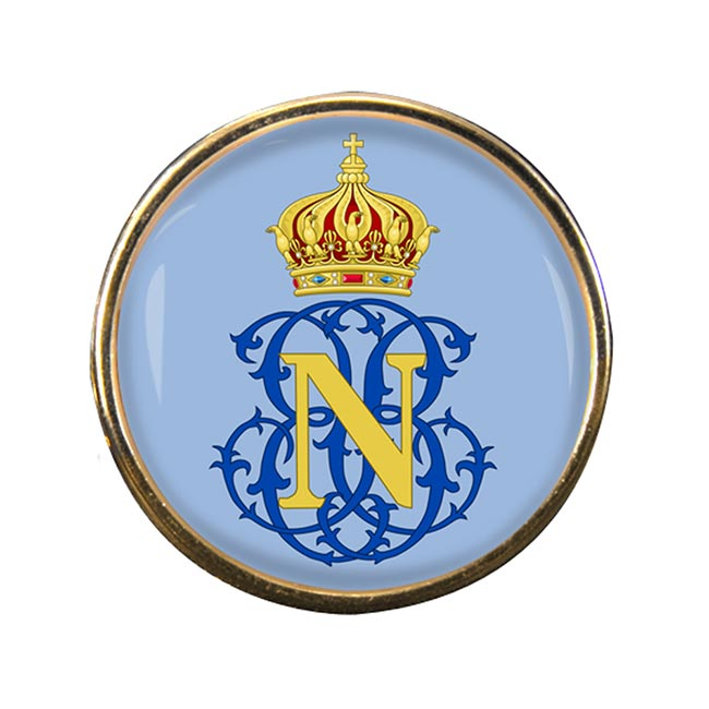 Monogram of Napoleon (France) Round Pin Badge