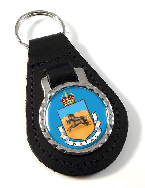 Colony of Natal (South Africa) Leather Key Fob