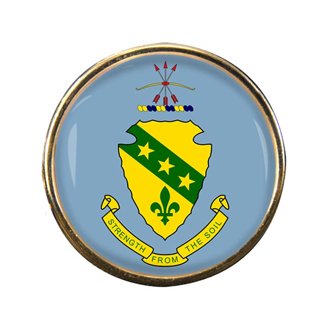 North Dakota Round Pin Badge
