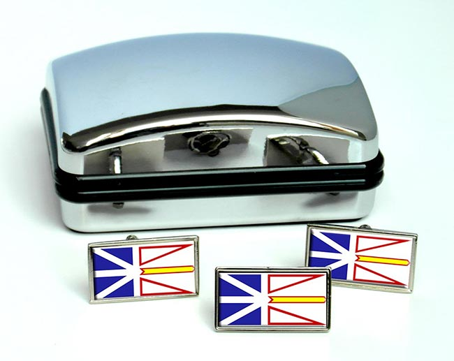 Newfoundland and Labrador (Canada) Flag Cufflink and Tie Pin Set