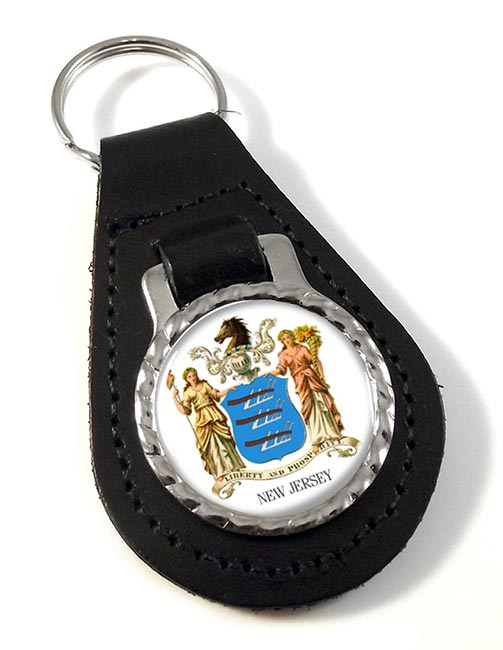 New Jersey  Leather Key Fob