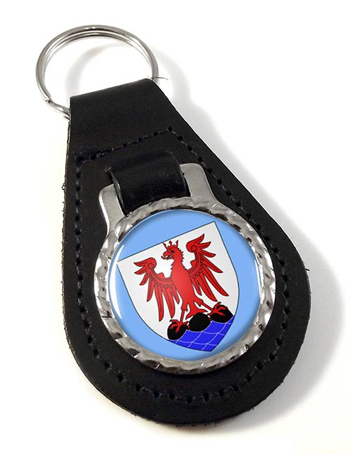 Nice (France) Leather Key Fob