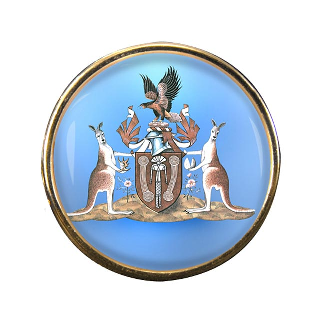 Northern Territory Australia Round Pin Badge