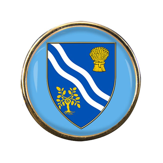Oxfordshire (England) Round Pin Badge