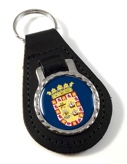 ciudad de Panama Leather Key Fob