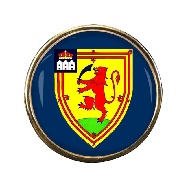 Perthshire (Scotland) Round Pin Badge