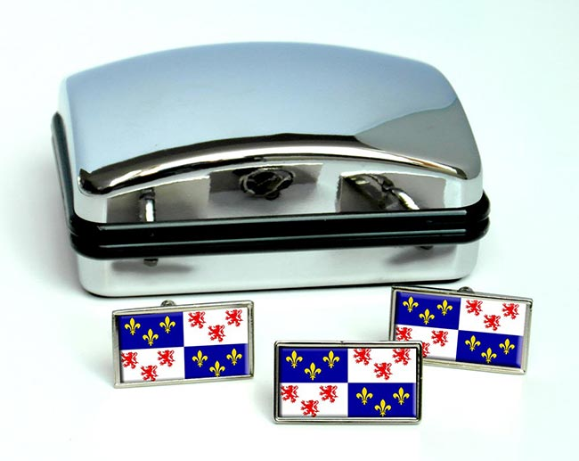 Picardie Picardy (France) Flag Cufflink and Tie Pin Set