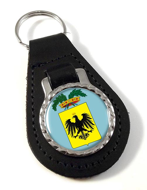 Provincia di Pisa (Italy) Leather Key Fob
