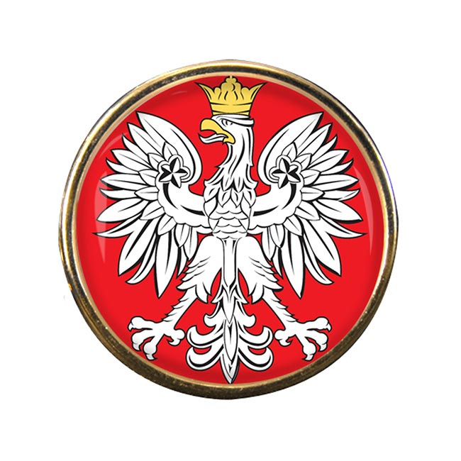 Poland Polska Round Pin Badge