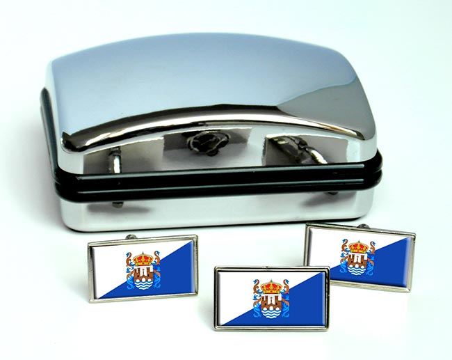 Pontevedra (Spain) Flag Cufflink and Tie Pin Set