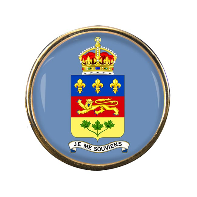Quebec Province (Canada) Round Pin Badge