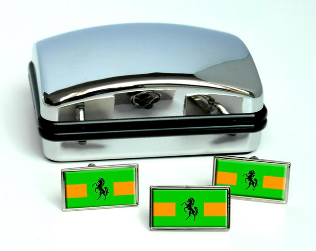 QwaQwa (South Africa) Flag Cufflink and Tie Pin Set