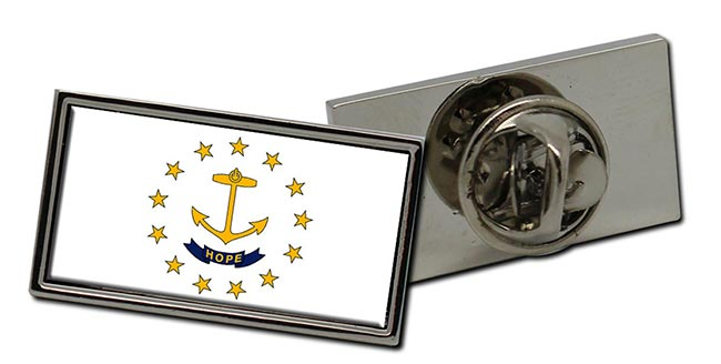 Rhode Island  Flag Pin Badge