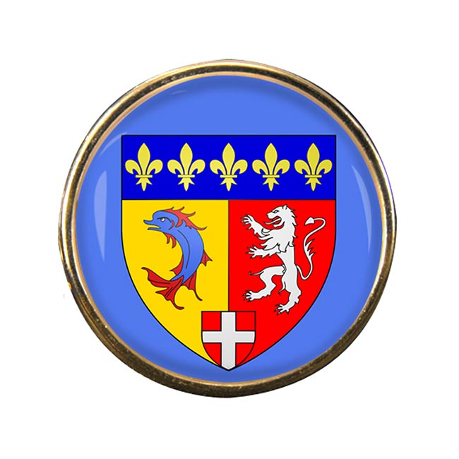 Rhone-Alpes (France) Round Pin Badge