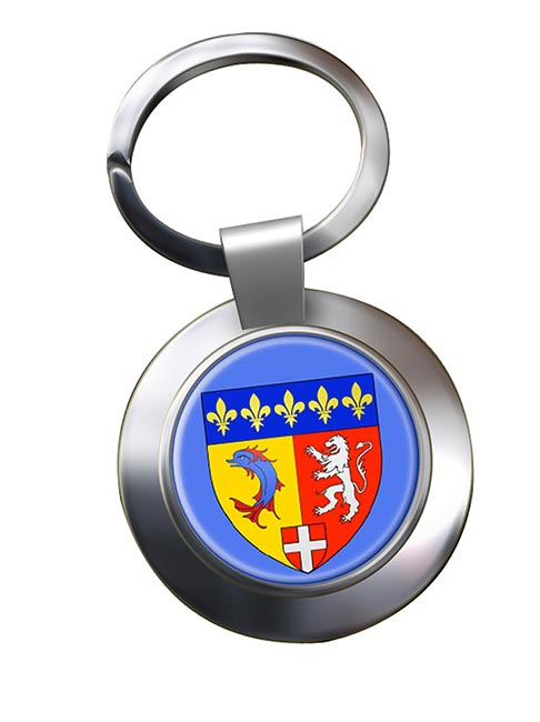 Rhone-Alpes (France) Metal Key Ring