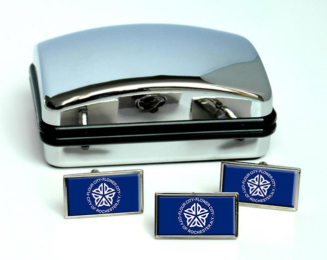Rochester NY  Flag Cufflink and Tie Pin Set