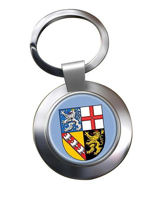 Saarland (Germany) Metal Key Ring