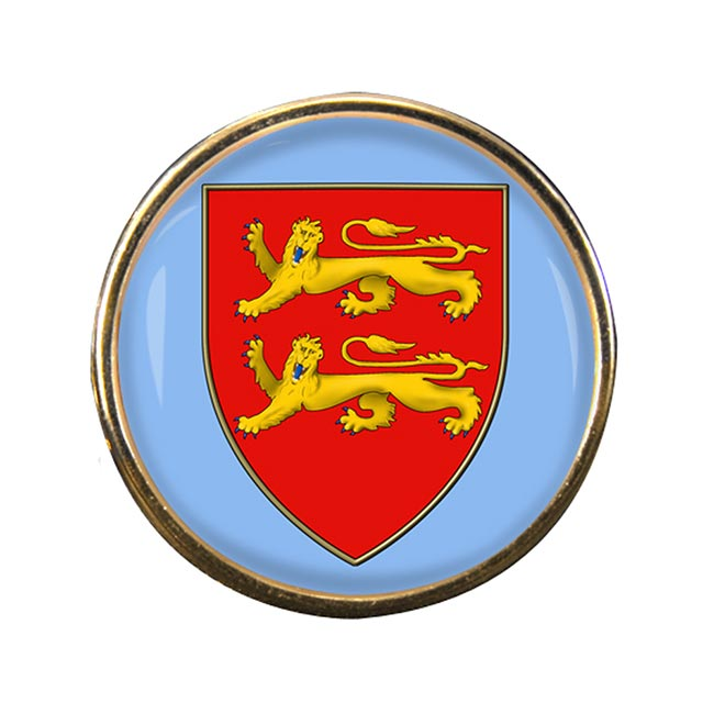Sark Round Pin Badge