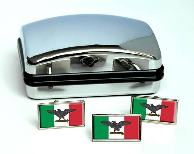 Repubblica Sociale Italiana (Italy) Flag Cufflink and Tie Pin Set