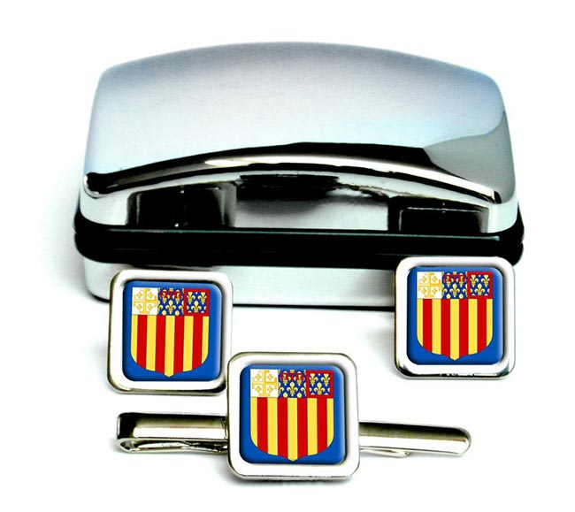 Aix-en-Provence France Square Cufflinks
