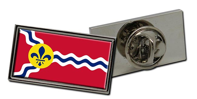 St. Louis MO  Flag Pin Badge