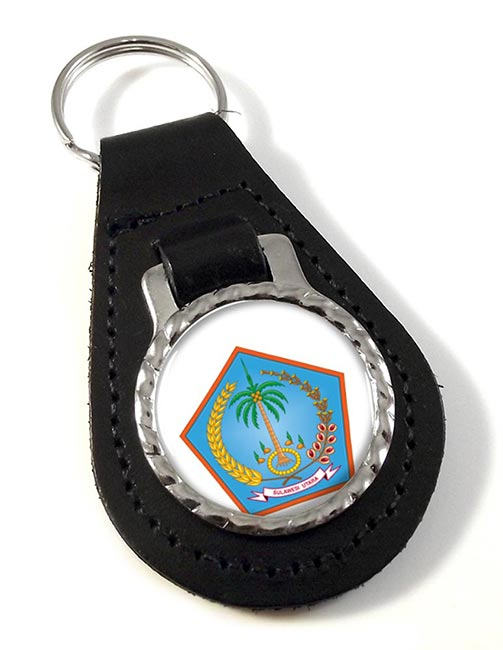 Sulawesi Utara (Indonesia) Leather Key Fob