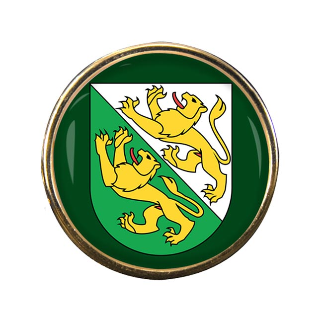 Thurgau (Switzerland) Round Pin Badge