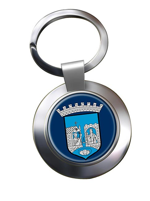 Trondheim (Norway) Metal Key Ring
