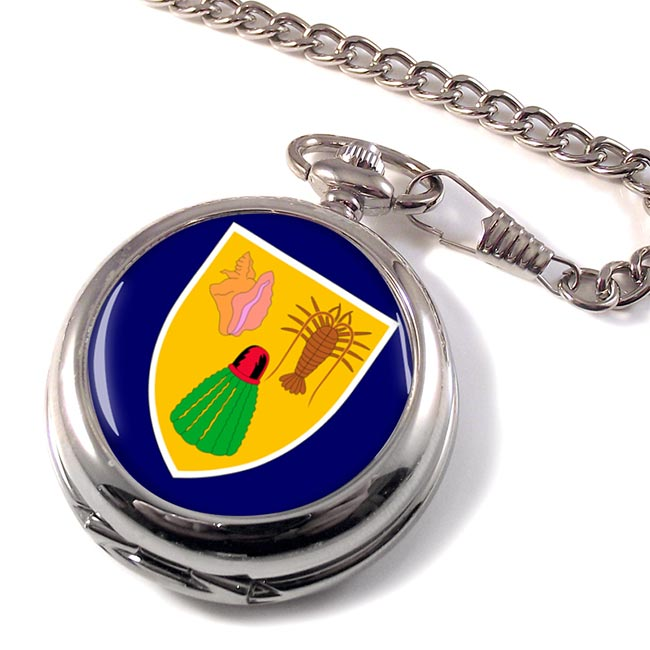 Turks and Caicos Islands Pocket Watch