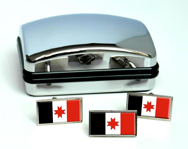 Udmurtia Flag Cufflink and Tie Pin Set